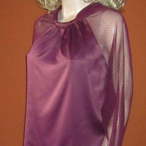 Victoria's Secret Purple Long Sleeve Blouse NEW